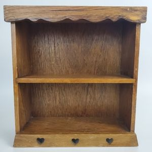 Vintage Wooden Display Shelf Small Hanging Wall